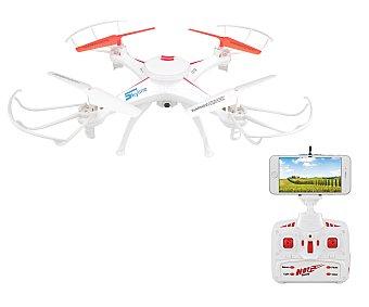 Dron con cámara y reproducción en streaming, conexión wifi, 2,4Ghz, 4 canales 1 unidad