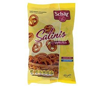 Schär Salinis aperitivo salado sin gluten y sin lactosa envase 60 g