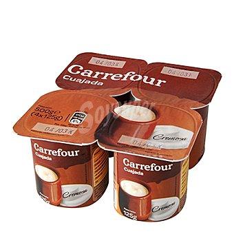 Carrefour Cuajada natural cremosa Pack 4x125 g