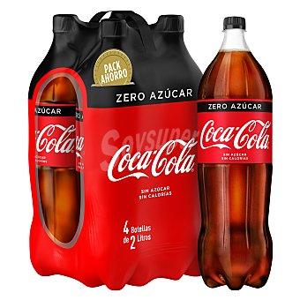 Coca-Cola Zero Bebida de cola Pack 4 pet x 2 l