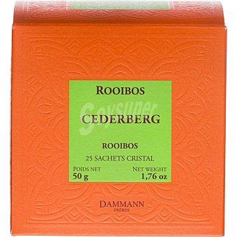 Dammann Té rooibos Cederberg sin cafeina 25 sobres envase 50 g envase 50 g