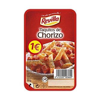 Revilla Taquitos de chorizo envase 80 gr