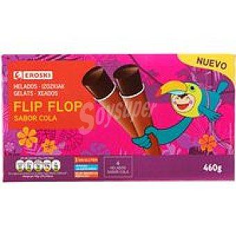 Eroski Flip flop de cola Pack 4x115 g