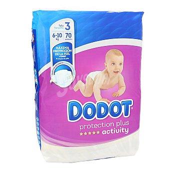 Dodot Activity Pañales activity talla 3 (6-10 kgs) paquete 70 uds