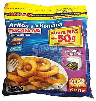 PESCANOVA Aritos a la romana sin gluten Paquete de 600 g