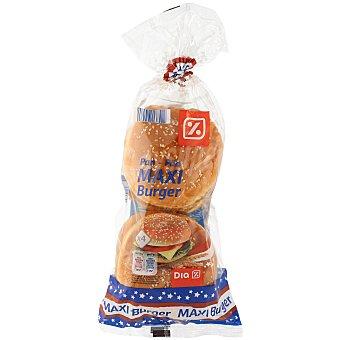 DIA Maxi pan de hamburguesas  4 unidades (bolsa 300 g)