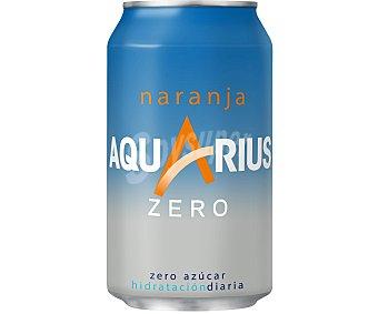 Aquarius Bebida refrescante zero aromatizada naranja Lata 33 cl