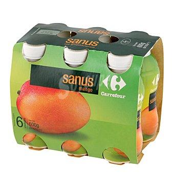 Carrefour Yogur líquido Sanus Mango Pack de 6x100 g