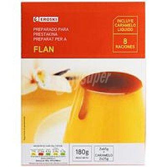 Eroski Flan con caramelo Caja 180 g