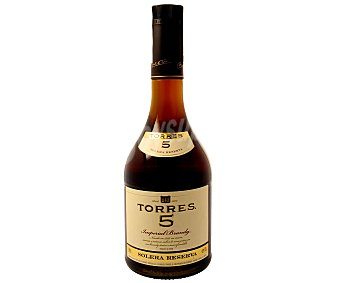 TORRES 5 Brandy imperial solera reserva Botella de 70 centilitros
