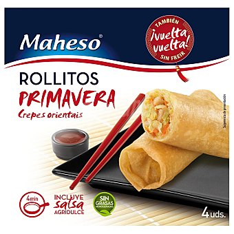 Maheso Rollitos De Primavera Crujientes Caja 225 g