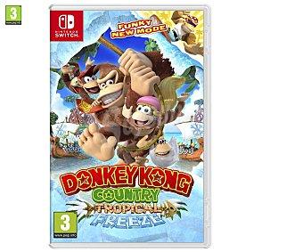 NINTENDO Donkey Kong Country: Tropical Freeze Switich Videojuego Donkey Kong Country: Tropical Freeze para Nintendo Switch. Género: plataformas. pegi: +3