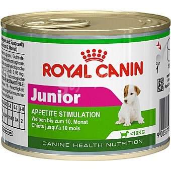 ROYAL CANIN JUNIOR Alimento para cachorros de razas pequeñas para la estimulacion del apetito lata 195 g Lata 195 g