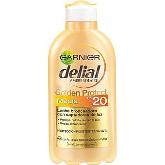 Delial Garnier Leche bronceadora con captadores de luz FP-20 Golden Protect Frasco 200 ml