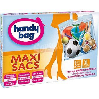 Handy bag Bolsa multiusos Maxi Sacs ahorra espacio con cierre hermético talla XL caja 3 unidades 3 unidades