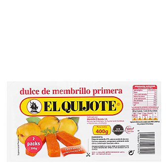 El Quijote Dulce de membrillo 400 g