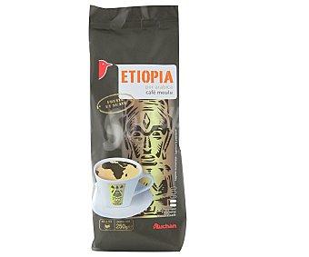 Auchan Café molido de tueste natural de Etiopía, 250 gramos