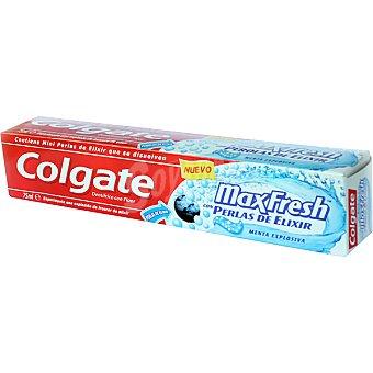 Colgate Max Fresh Pasta dentífrica en gel con perlas de elixir menta explosiva Tubo 75 ml
