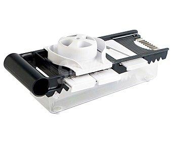 QUID Mandolina multiusos con recipiente modelo Prepara, incluye 5 cuchillas para cortar, rallar, laminar, picar y corte ondulado, 32x14x10 centímetros 1 unidad