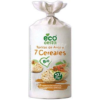 Ecocesta Tortitas de arroz de 7 cereales 100 g