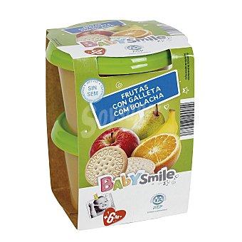 Baby Smile Frutas con galleta tarrito 2x200 gr
