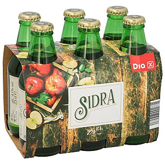 DIA Sidra achampanada 6 botellines de 250 ml