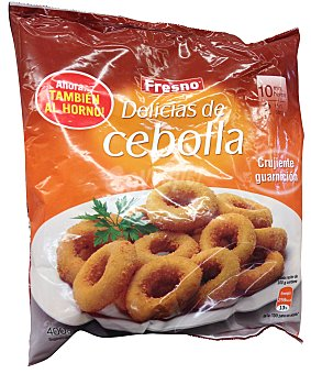 Fresno Aros cebolla empanada / delicias congelados Paquete 400 g