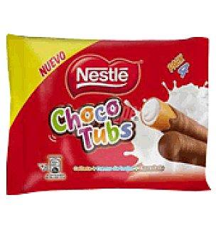 Nestlé Tubos rellenos de galleta, crema de leche y chocolate pack de 4x20 g