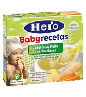 Hero Baby Caldito de pollo con verduras Recetas