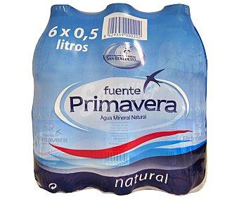Fuente Primavera Agua mineral Pack 6 Unidades de 50 Centilitros