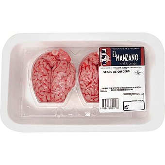 Manzano Sesos frescos de cordero peso aproximado 200 g Envase 2 unidades