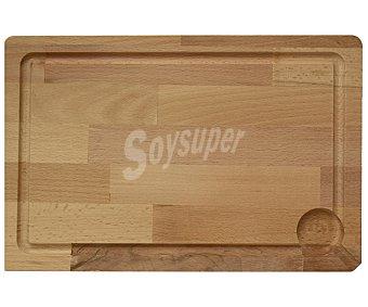 Auchan Tabla para cortar de madera, 36x24x4 centímetros 1 Unidad