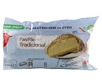 Auchan Pan tradicional con fibra de arroz sin gluten (controlado por la face) 160 gramos