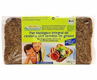Mestemacher Pan Biológico Integral de Semillas de Girasol Ecológico 500 Gramos
