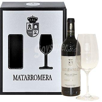 Matarromera Vino tinto crianza D.O. Ribera del Duero estuche botella 75 cl + copa de regalo Botella 75 cl