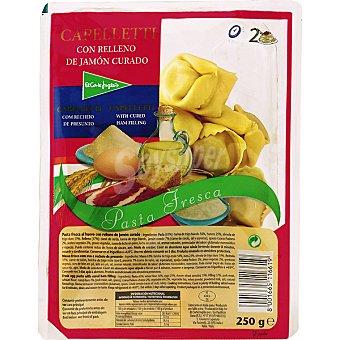 El Corte Inglés Cappelletti fresco con relleno de jamón curado Bandeja 250 g
