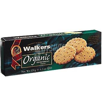 WALKERS Organic Thins Galletas de mantequilla escocesas ecológicas Envase 120 g