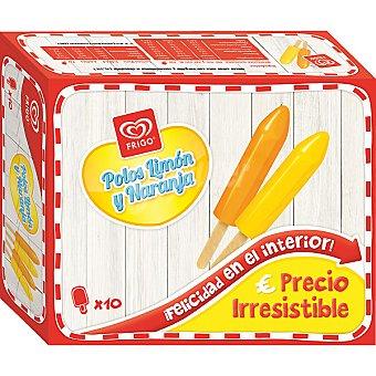 FRIGO polos de limón y naranja 10 unidades  estuche 500 ml