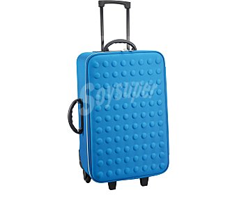 Productos Económicos Alcampo Maleta flexible color azul, 2 ruedas, 70 centimetros 1 Unidad