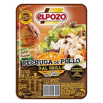 ElPozo Pechuga de pollo tiras AL grill 110 g