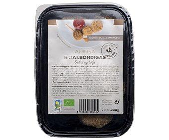 Ahimsa Preparado vegetal con seitán y tofu tipo albóndiga 230 gramos