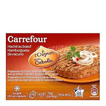 Carrefour Hamburguesa con cebolla Pack de 10x100 g
