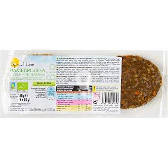 Bio hamburguesa vegetal mediterranea ecologica sin gluten envase 160 g