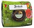 Café molido de tueste natural de origen Brasil en monodosis compatibles con Senseo (100% arábica) 18 uds Auchan