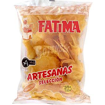 Fatima Patatas artesanas fritas con aceite de girasol bolsa 170 g Bolsa 170 g