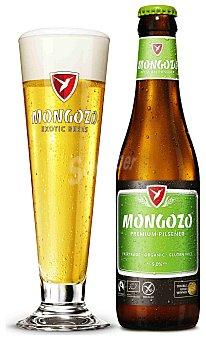 Pilsener Cerveza artesana Mongozo Premium sin gluten Botella 33 cl