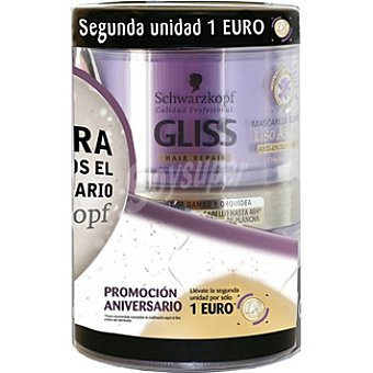 Gliss Mascarilla Liso Asiático (el 2º frasco sale por solo 1?) Pack 2 tarro 200 ml