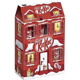 Kit Kat Nestlé Village chocolatinas en caja diseño Navidad  100 g