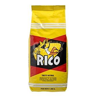 Rico Café en grano natural Paquete 1 kg