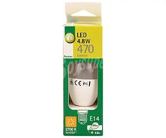 Productos Económicos Alcampo Bombilla led vela de 4.8W, con casquillo E14 (fino) y luz cálida alcampo